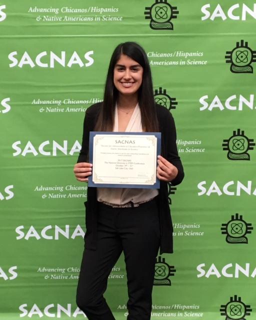 Adriana M Ortiz Aquino wins presentation Award at SACNAS STEM Conference