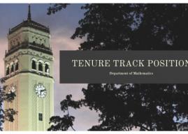 Tenure Track position