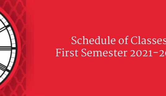 Class Schedule First Semester 2021-2022